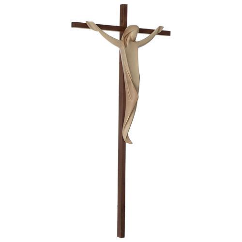 Crocifisso Ambiente croce dritta liscia legno Valgardena brunito 3 colori 4