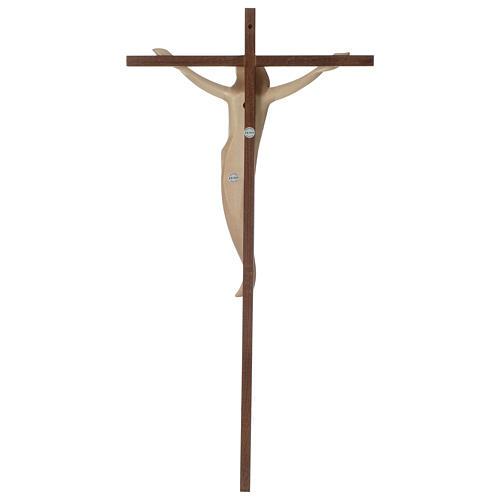 Crocifisso Ambiente croce dritta liscia legno Valgardena brunito 3 colori 5