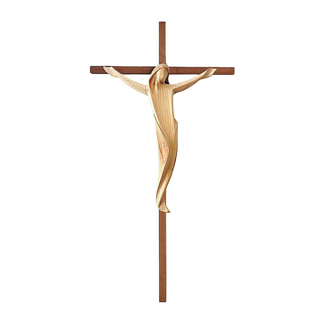Crocifisso Ambiente croce dritta liscia legno Valgardena colori ad acqua 4