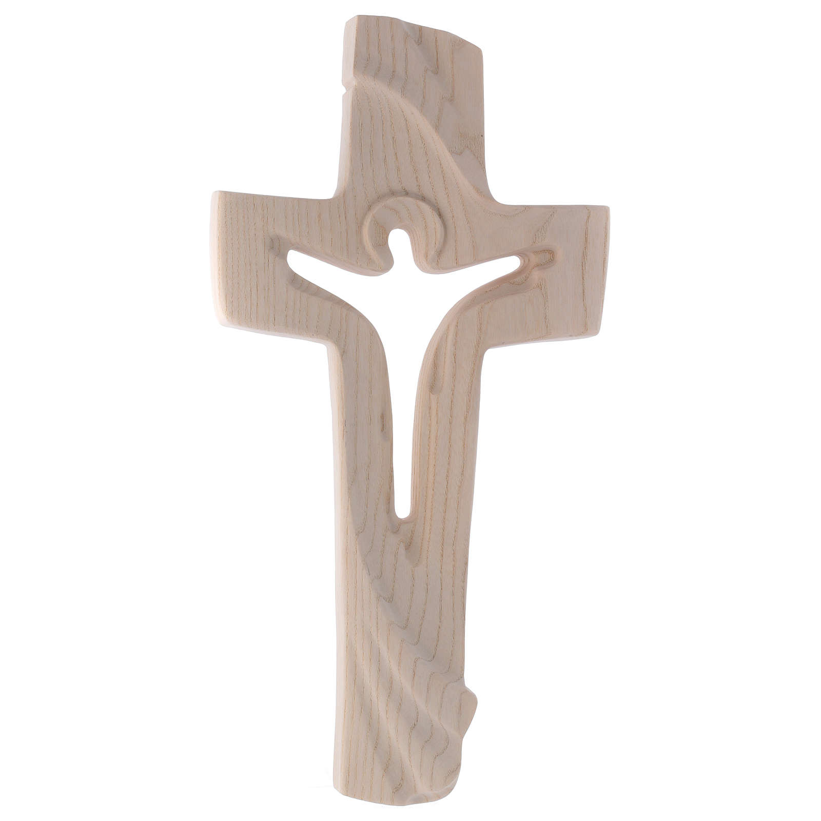 Risen Christ cross in ash wood, Val Gardena rural design 4