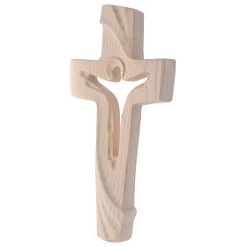 Risen Christ cross in ash wood, Val Gardena rural design s3