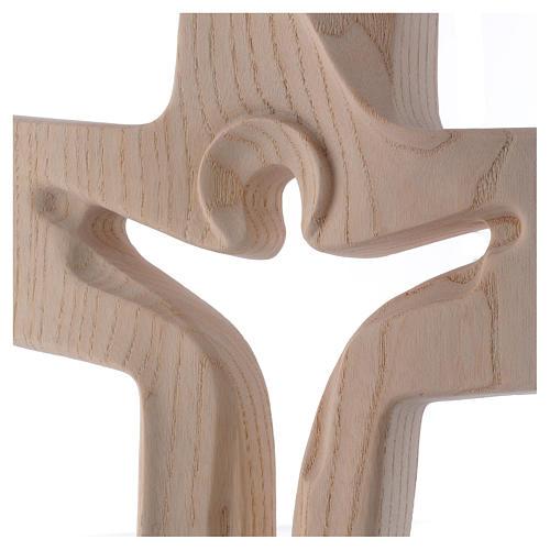 Risen Christ cross in ash wood, Val Gardena rural design 2