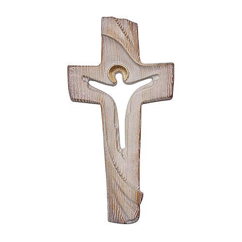 Cruz ambiente Design Rústico Resucitado madera Val Gardena bruñida 3 colores 1
