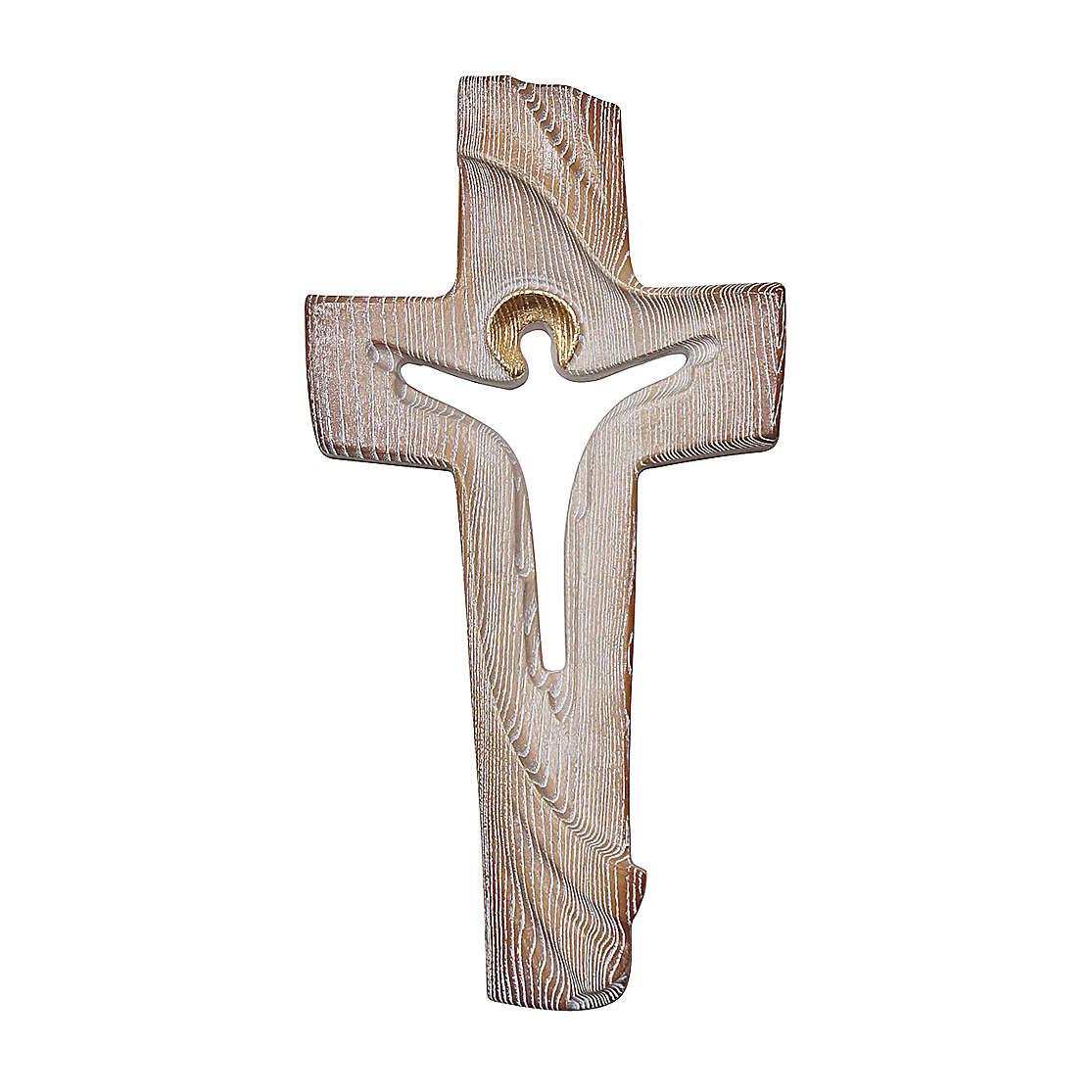 Croce ambiente Design Rustico Risorto legno Valgardena brunito 3 colori 4