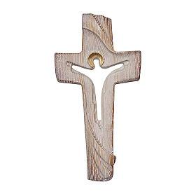 Croce ambiente Design Rustico Risorto legno Valgardena brunito 3 colori s1