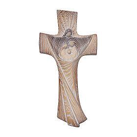 Croce ambiente Design Rustico Sacra Famiglia legno Valgardena naturale s1