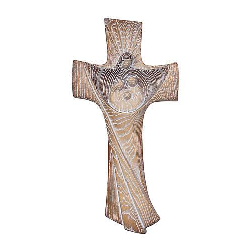 Croce ambiente Design Rustico Sacra Famiglia legno Valgardena naturale 1