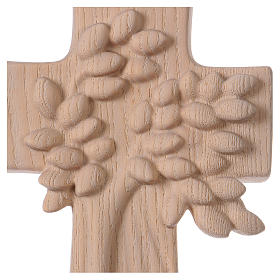 Croce ambiente Design Rustico Albero Vita legno Valgardena naturale s2