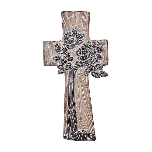 Croce ambiente Design Rustico Albero Vita legno Valgardena naturale 1