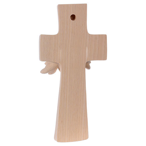Croce ambiente Design Rustico Albero Vita legno Valgardena naturale 3