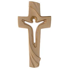 Croce della Pace Ambiente Design legno Valgardena cerato filo oro s1
