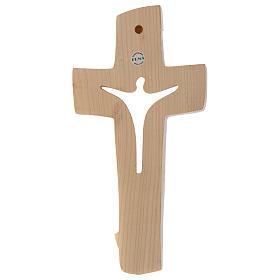 Croce della Pace Ambiente Design legno Valgardena cerato filo oro s3