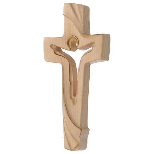 Croce della Pace Ambiente Design legno Valgardena cerato filo oro 2