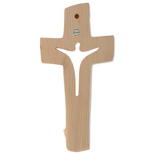 Croce della Pace Ambiente Design legno Valgardena cerato filo oro 3