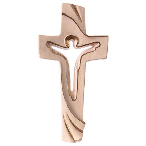 Croce della Pace Ambiente Design legno Valgardena cerato filo oro 1