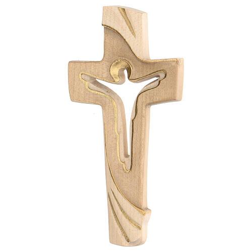 Croix de la Paix Ambiente Design bois Val Gardena bruni 3 tons