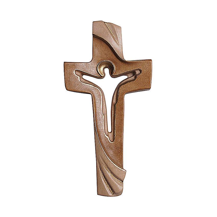Croce della Pace Ambiente Design legno Valgardena brunito 3 colori 4