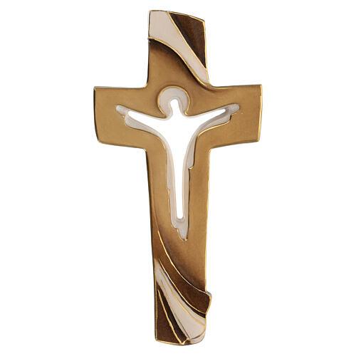 Croix de la Paix Ambiente Design bois Val Gardena peint