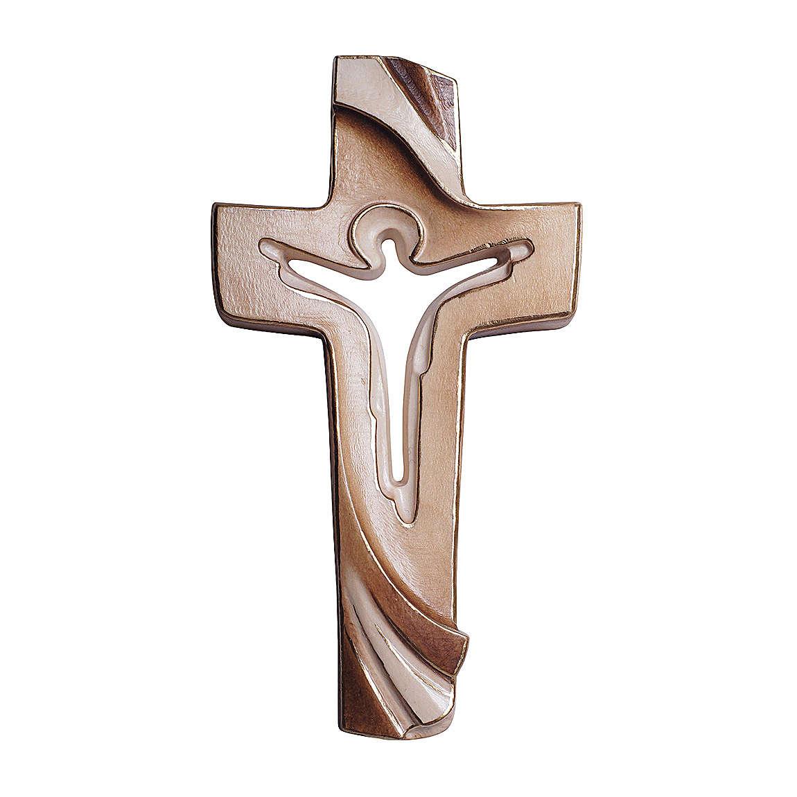 Croce della Pace Ambiente Design legno Valgardena dipinto 4