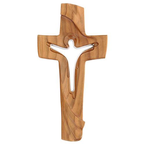 Croix de la Paix Ambiente Design bois cerisier Val Gardena satiné