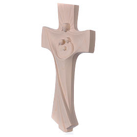 Cross of the Family Ambiente Design in natural wood of Valgardena s3