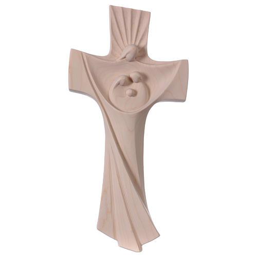 Croix de la Famille Ambiente Design bois Val Gardena naturel 1