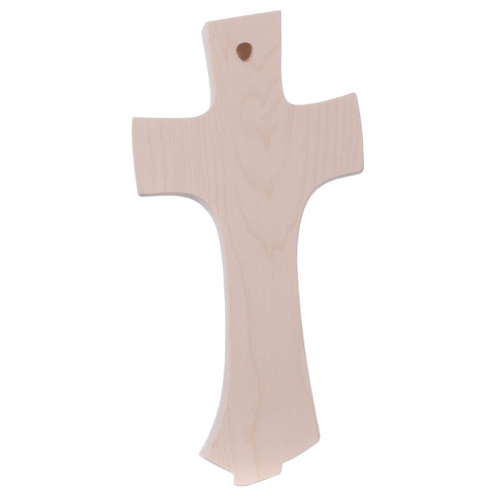 Croce della famiglia Ambiente Design legno Valgardena naturale 4