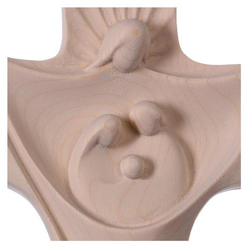 Croce della famiglia Ambiente Design legno Valgardena naturale 2