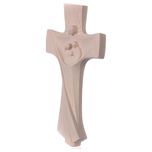 Cross of the Family Ambiente Design in natural wood of Valgardena 3