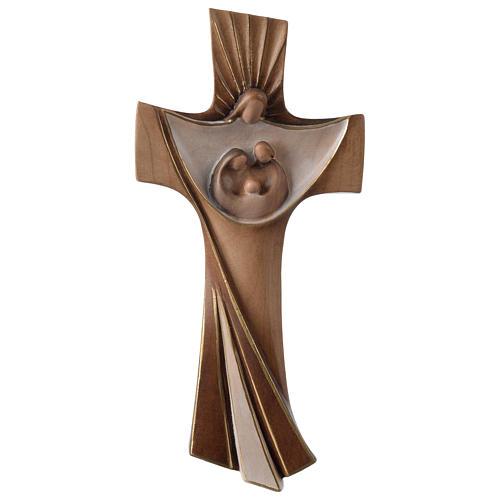 Croce della famiglia Ambiente Design legno Valgardena dipinta 1