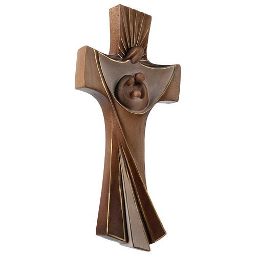 Croce della famiglia Ambiente Design legno Valgardena dipinta 3