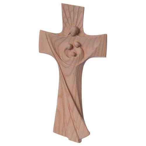 Croce della famiglia Ambiente Design legno ciliegio Valgardena naturale 1