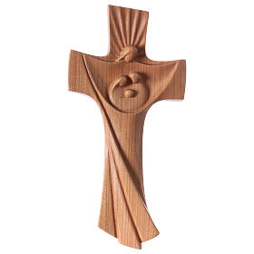 Wooden crucifixes: Family cross Ambiente Design in cherry wood of Valgardena satinized