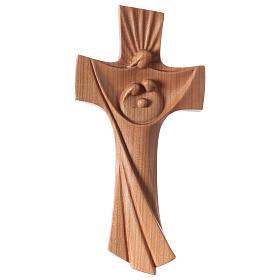 Crucifijos y cruces de madera: Cruz de la familia Ambiente Design madera cereza Val Gardena satinada