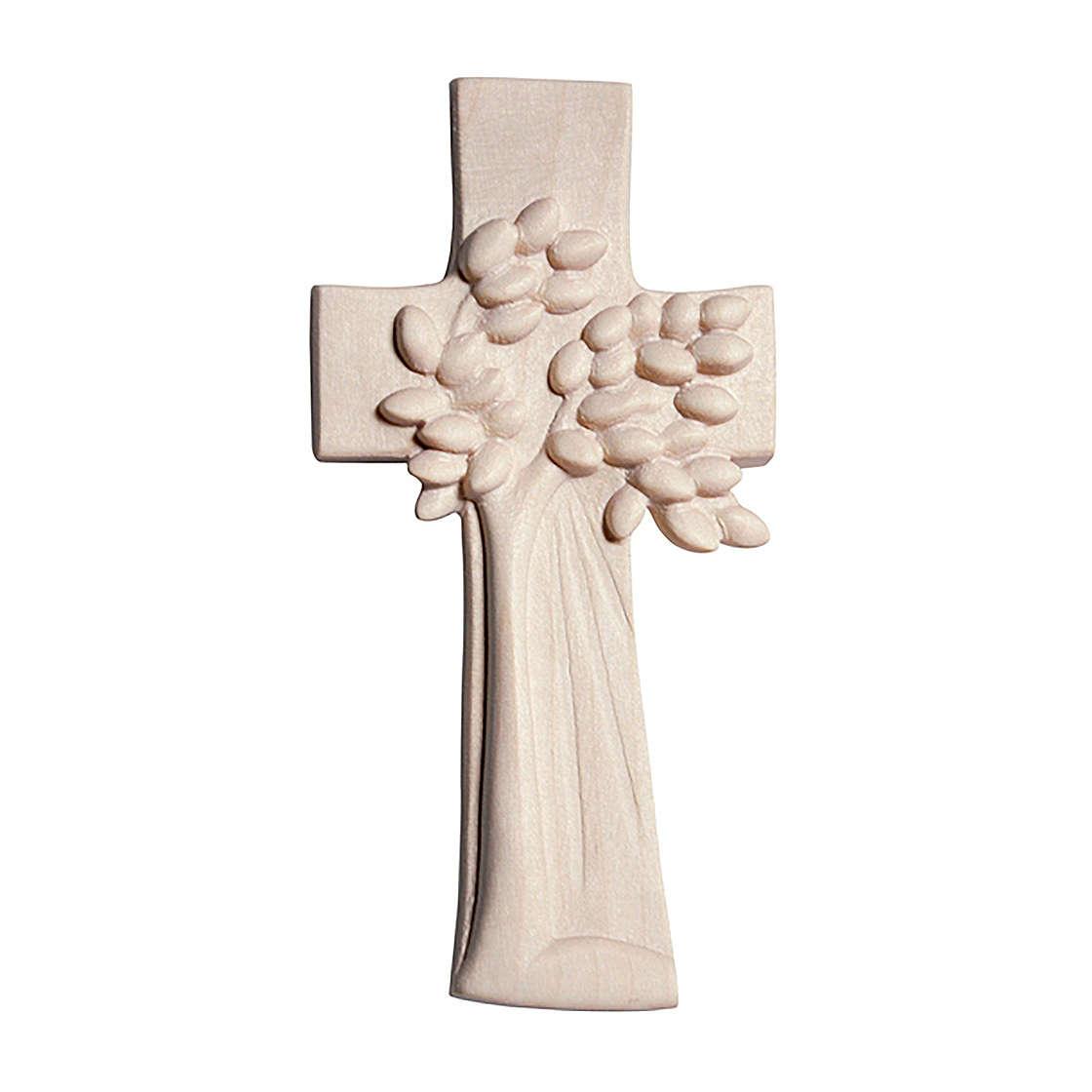 Croce Albero della Vita Ambiente Design legno Valgardena naturale 4