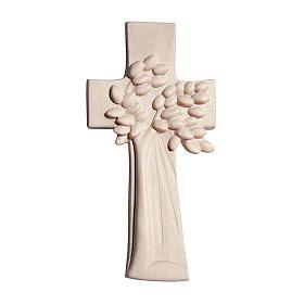 Croce Albero della Vita Ambiente Design legno Valgardena naturale s1