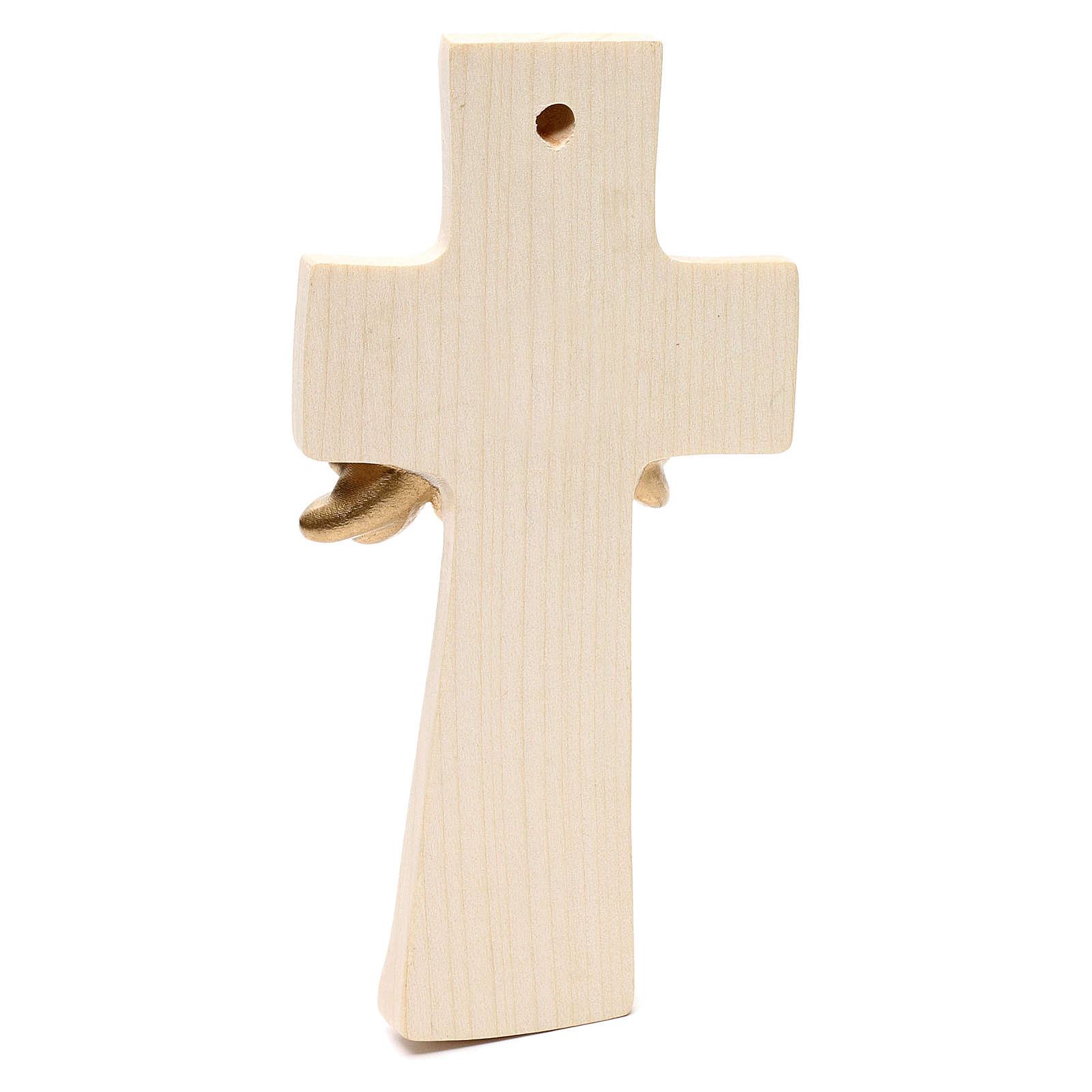 Croce Albero della Vita Ambiente Design legno Valgardena cerata filo oro 4