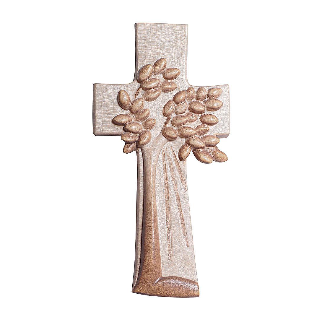 Croce Albero della Vita Ambiente Design legno Valgardena brunita 3 colori 4