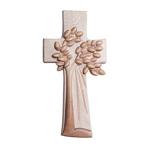 Croce Albero della Vita Ambiente Design legno Valgardena brunita 3 colori 1