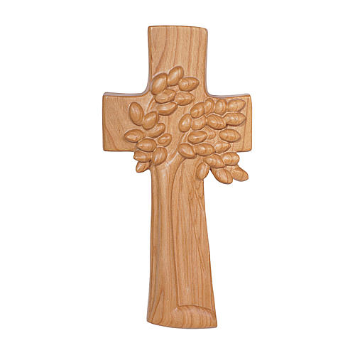 The Tree of Life cross in cherry wood satinized Ambiente Design Valgardena 1