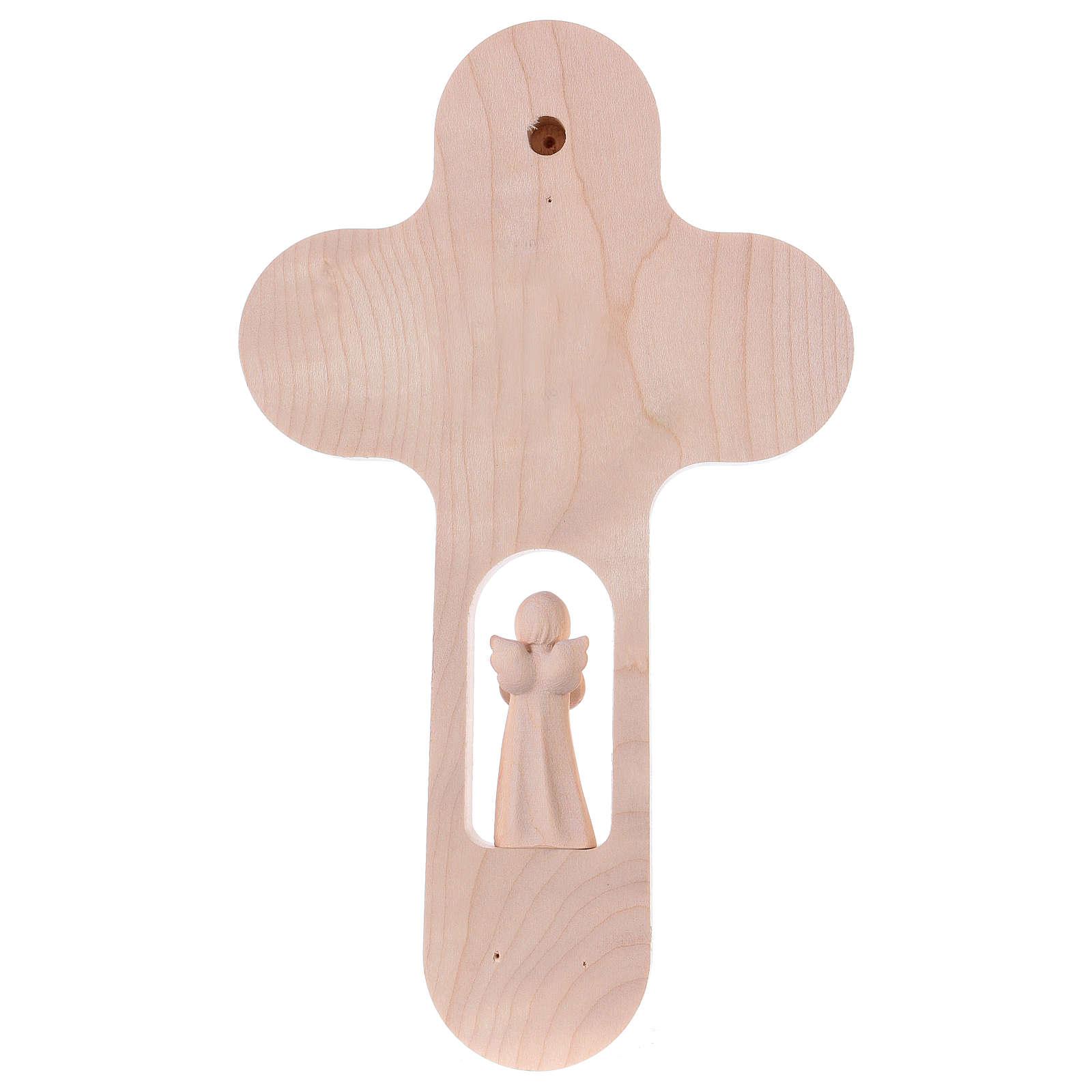 Croix colorée avec Ange 21 cm Val Gardena ALL 4