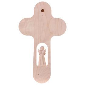 Croix colorée avec Ange 21 cm Val Gardena ALL s4