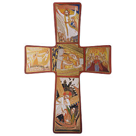 Cross with Passion of Jesus Christ by Rupnik 35x25 cm s1