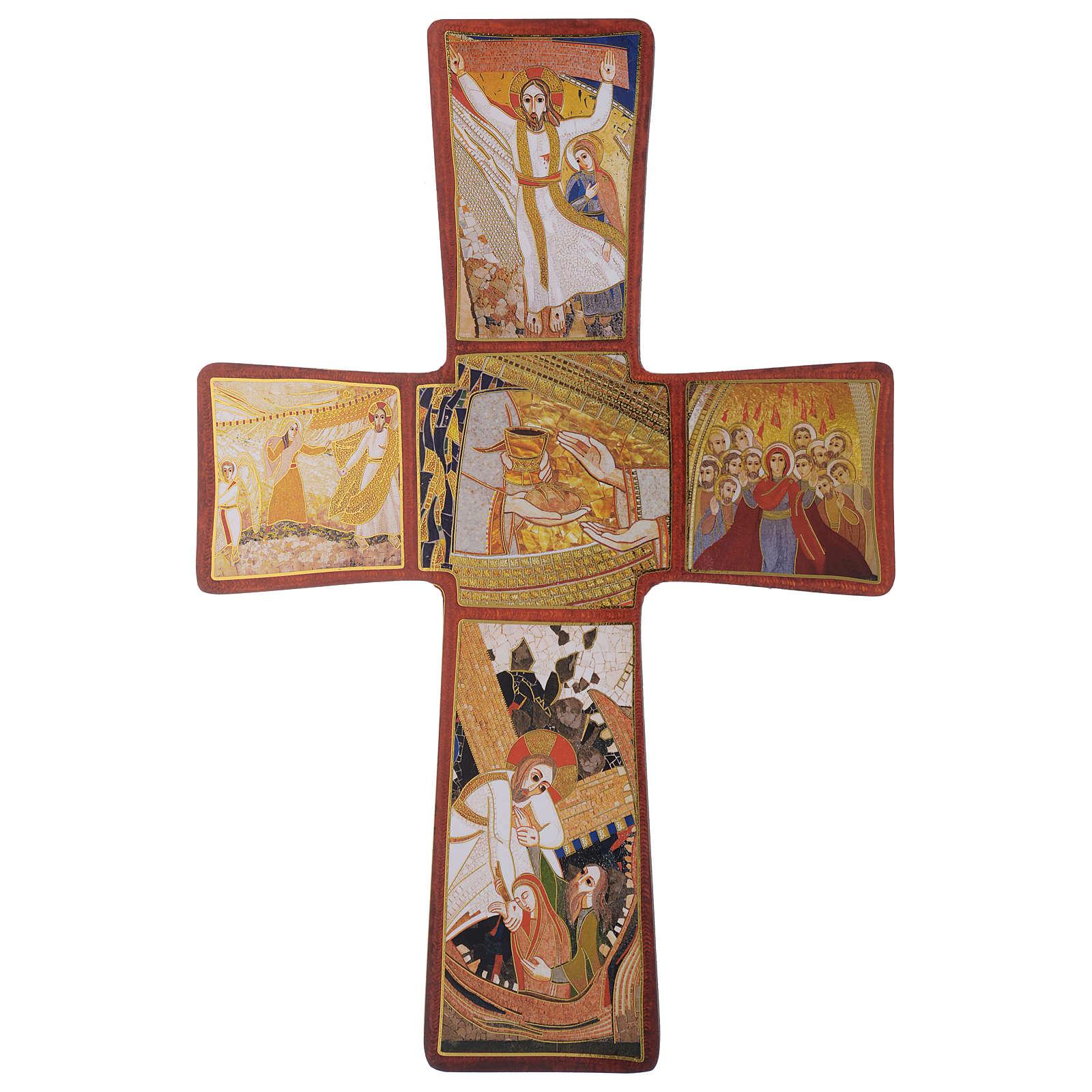 Croce stampa Passione di Rupnik 35x25 cm 4
