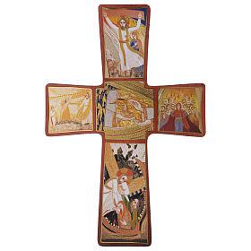 Croce stampa Passione di Rupnik 35x25 cm s1