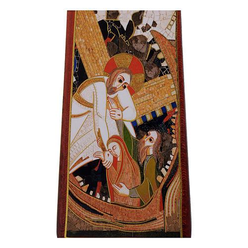 Croce stampa Passione di Rupnik 35x25 cm 2