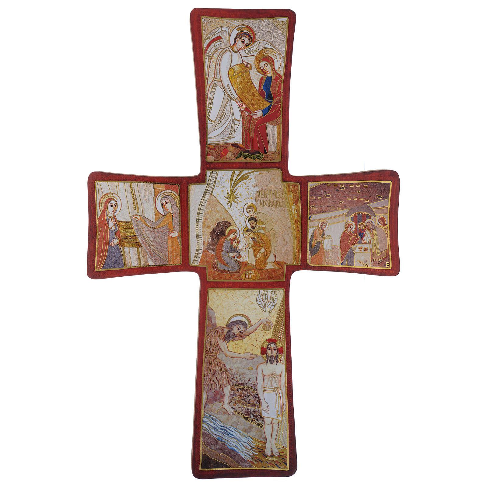 Croce stampa Natività di Rupnik 35x25 cm 4
