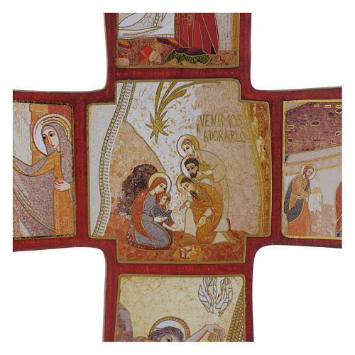 Croce stampa Natività di Rupnik 35x25 cm 2