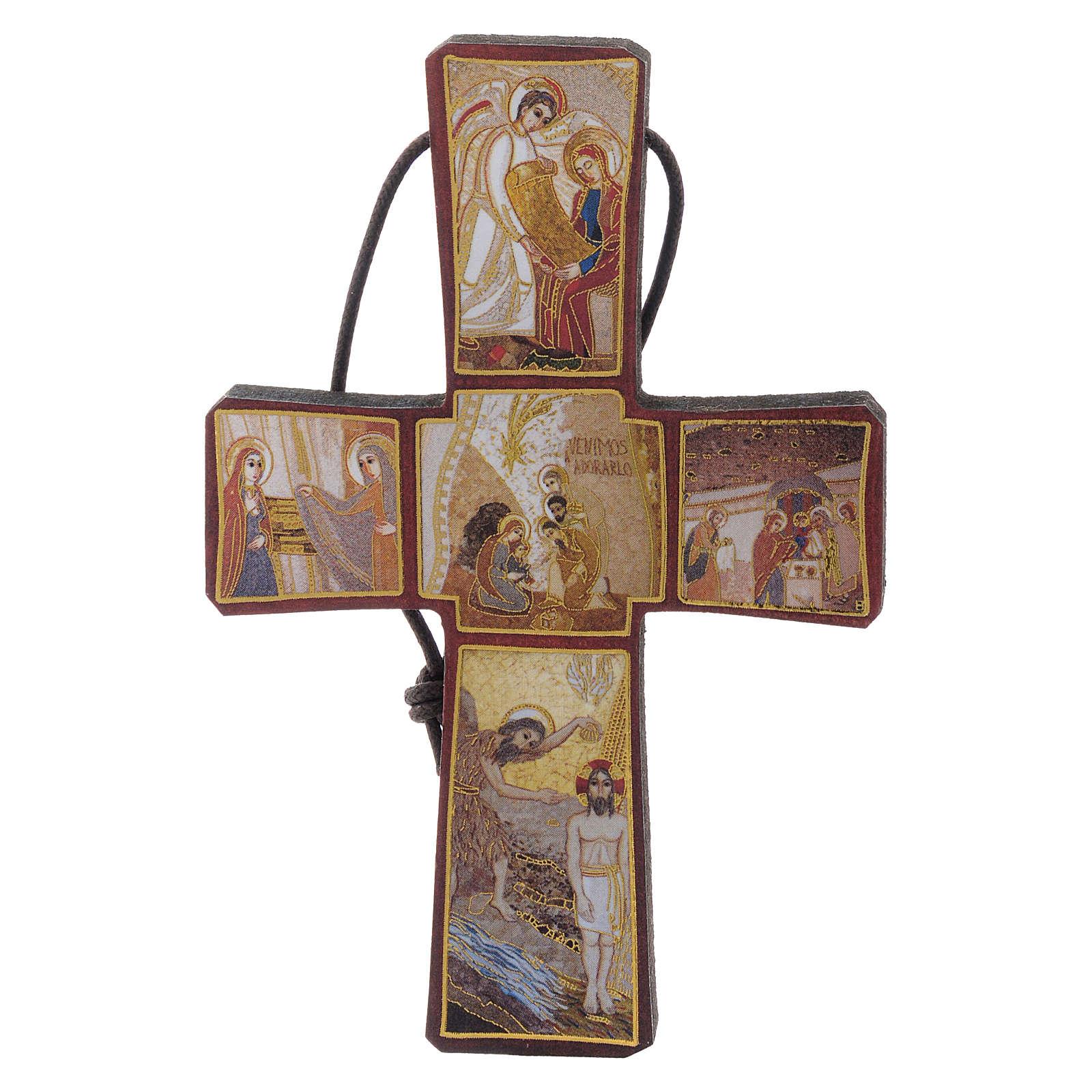 Croce stampa Natività di Rupnik 10x5 4
