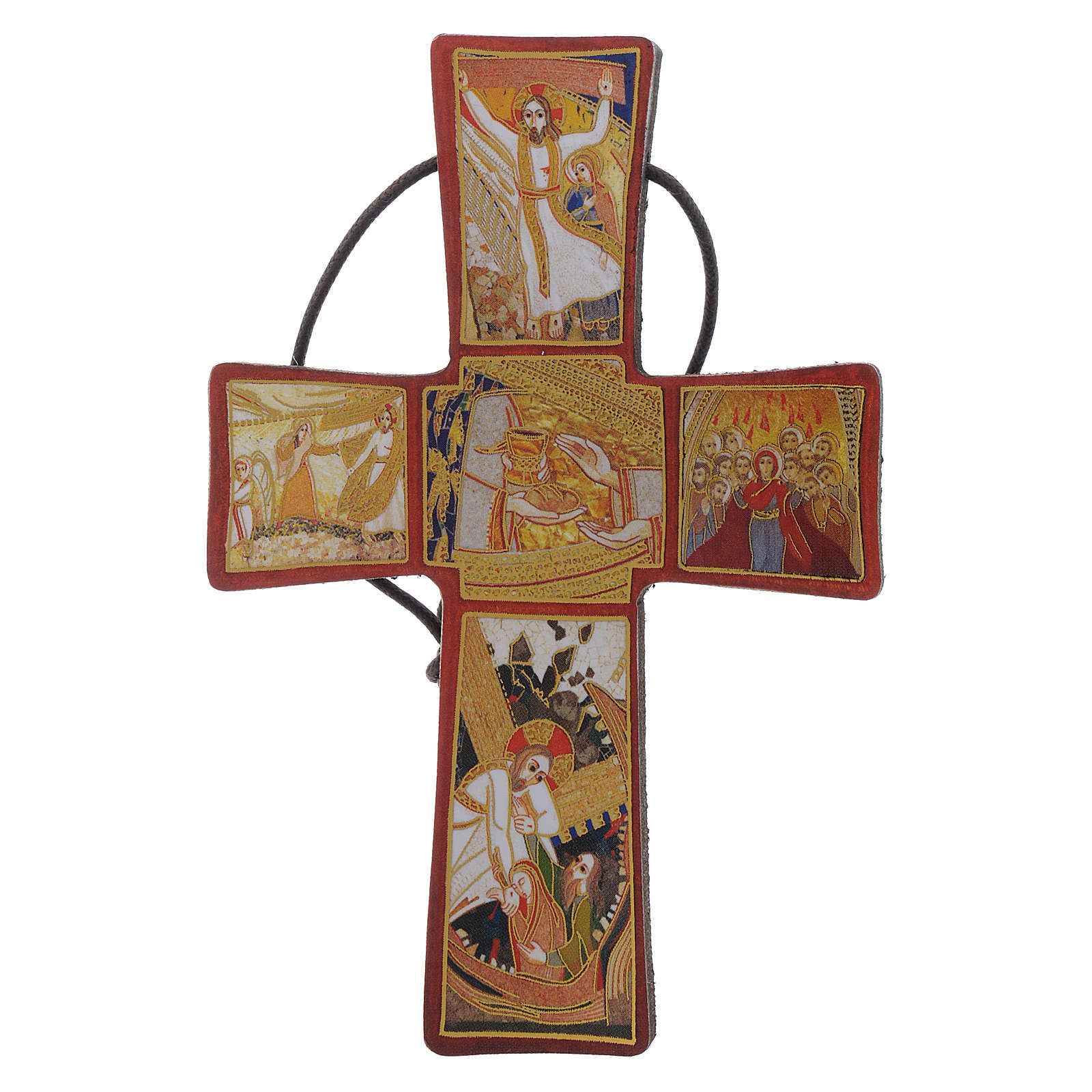 Cross with Passion of Christ by Father Rupnik 10x5 cm 4